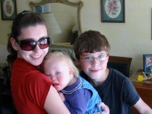 My precious niece Amelia is popular with my two children.