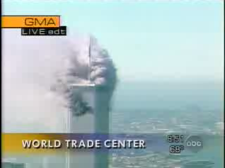 This is a shot from ABC's Good Morning America broadcast on Sept. 11, 2001.