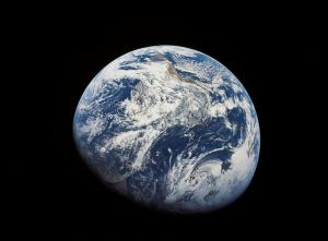 This is a view of Earth from Apollo 8