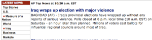 This is the headline on its main news page.